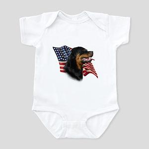 Rottweiler Flag Infant Bodysuit