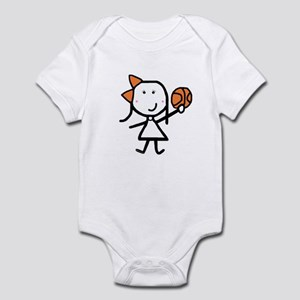 Girl & Basketball Infant Bodysuit