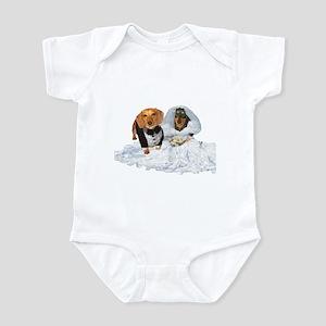 Wedding Dachshunds Dogs Infant Bodysuit