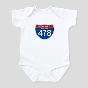 Interstate 478 - NY Infant Bodysuit