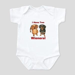 Two Wieners Infant Bodysuit
