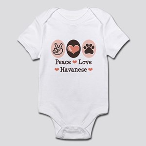 Peace Love Havanese Infant Bodysuit