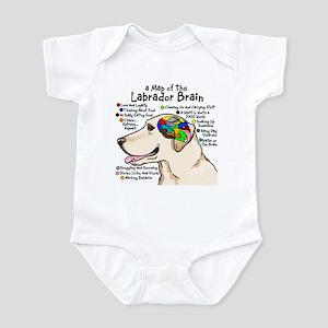 Yellow Lab Brain Infant Bodysuit
