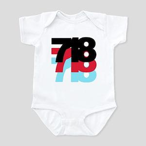 718 Area Code Infant Bodysuit
