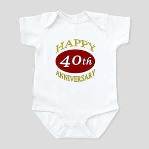 Happy 40th Anniversary Infant Bodysuit