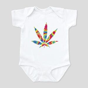 Rainbow Hippie Weed Infant Bodysuit