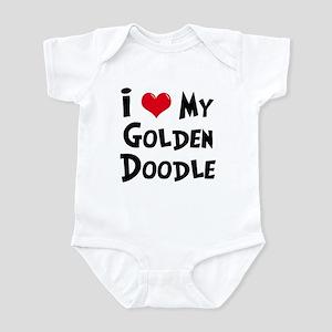 I Love My Golden Doodle Infant Bodysuit
