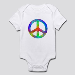 Multicolored Peace Sign Infant Bodysuit