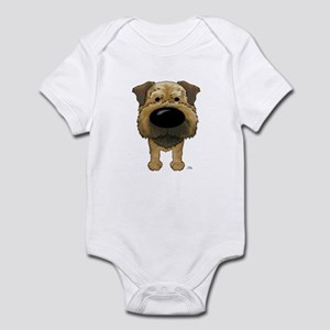Big Nose Border Terrier Infant Bodysuit