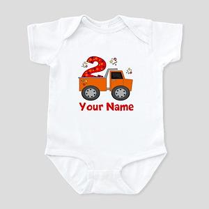 2nd Birthday Dump Truck Infant Bodysuit