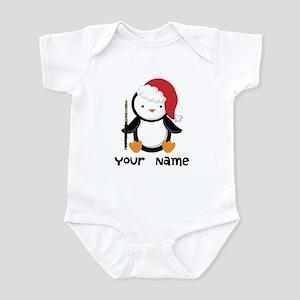 Personalized Flute Penguin Infant Bodysuit