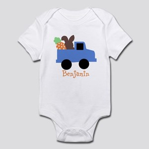 Easter time truck personalized Body Suit