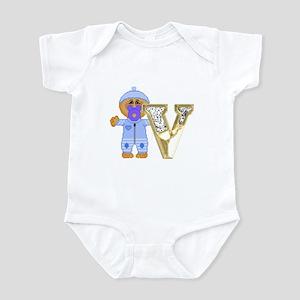 Baby Initials - V Infant Creeper