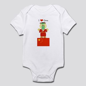 I Love China Infant Creeper
