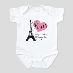 custom add text paris Infant Bodysuit
