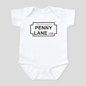 Penny Lane, Liverpool Street Sign, Infant Bodysuit