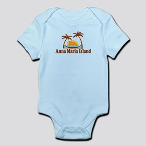 Anna Maria Island - Palm Trees Design. Infant Body