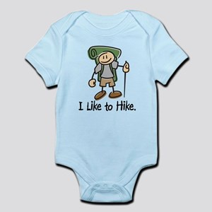 I Like To Hike (Green) Infant Bodysuit