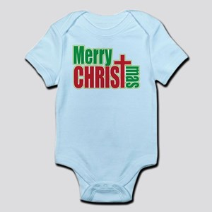 Merry CHRISTmas Infant Bodysuit