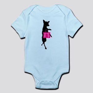 Silhouette of Chihuahua Going Shop Infant Bodysuit