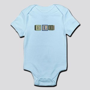 Eli Alphabet Block Infant Bodysuit