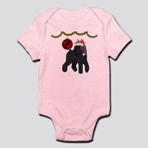 giant schnauzer Christmas Baby Light Bodysuit