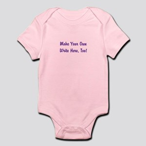 Make Your Own Cursive Saying/M Baby Light Bodysuit