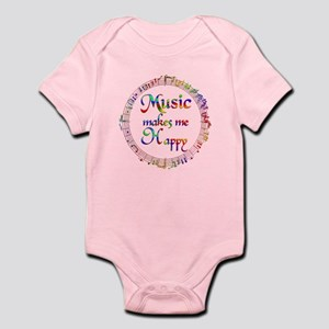 Music makes me Happy Infant Bodysuit
