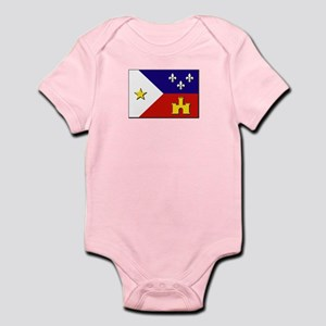 Flag of Acadiana Infant Bodysuit