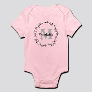 b6b0cfb6b Personalized Monogram Body Suit For Cute Baby Girl