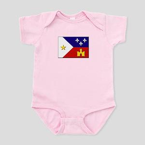 Flag of Acadiana Infant Bodysuit