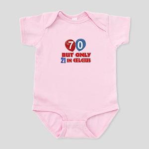 70 year old designs Infant Bodysuit