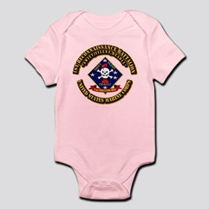 1st - Reconnaissance Bn With Text USMC Infant Body