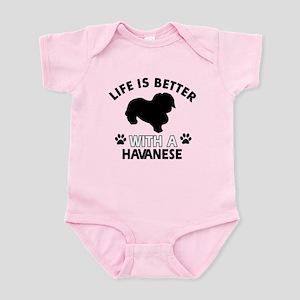 Funny Havanese lover designs Infant Bodysuit