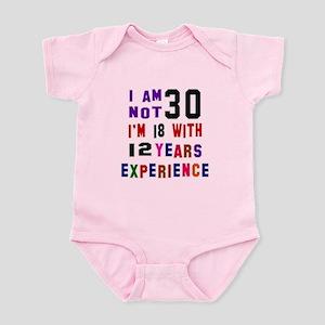 30 Birthday Designs Infant Bodysuit