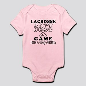 Lacrosse ain't just a game Infant Bodysuit