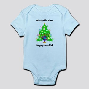Hanukkah and Christmas Interfaith Infant Bodysuit