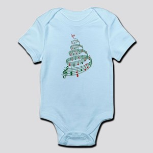 Christmas tree with music notes and heart Infant B
