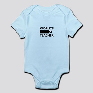 Gift for Worlds Blank Teacher Body Suit
