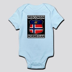 Wisconsin Norwegian American Body Suit