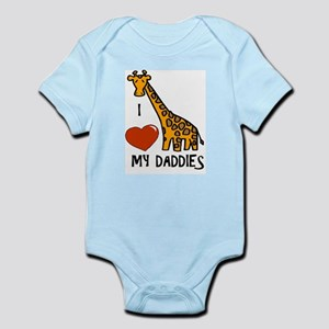 I Love My Daddies Giraffe Infant Bodysuit