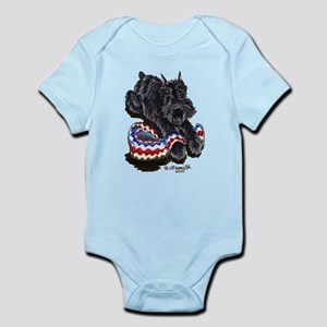 Black Schnauzer Afghan Infant Bodysuit