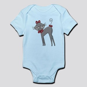 Ribbon Kitty Infant Bodysuit