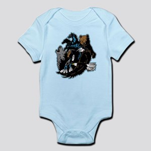Native American Indian and Wildlif Infant Bodysuit
