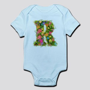R Floral Infant Bodysuit