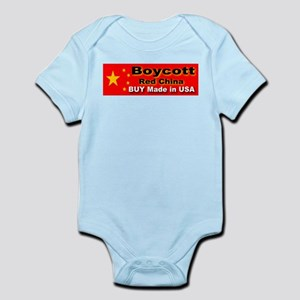 Boycott Red China Buy Made in Infant Creeper