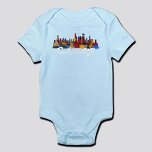 Chicago Illinois Skyline Baby Bodysuit