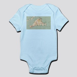 Vintage Map of Martha's Vineyard (1917) Body Suit