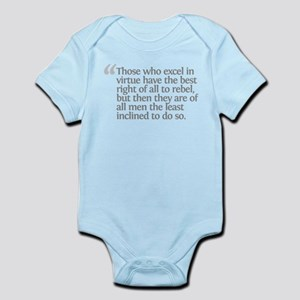 Aristotle excel in virtue Infant Bodysuit