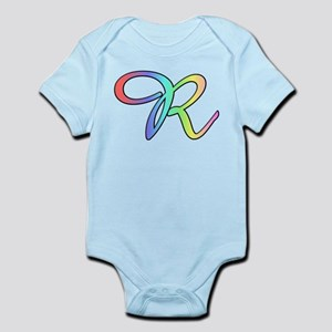 Pastel Cursive R Infant Creeper